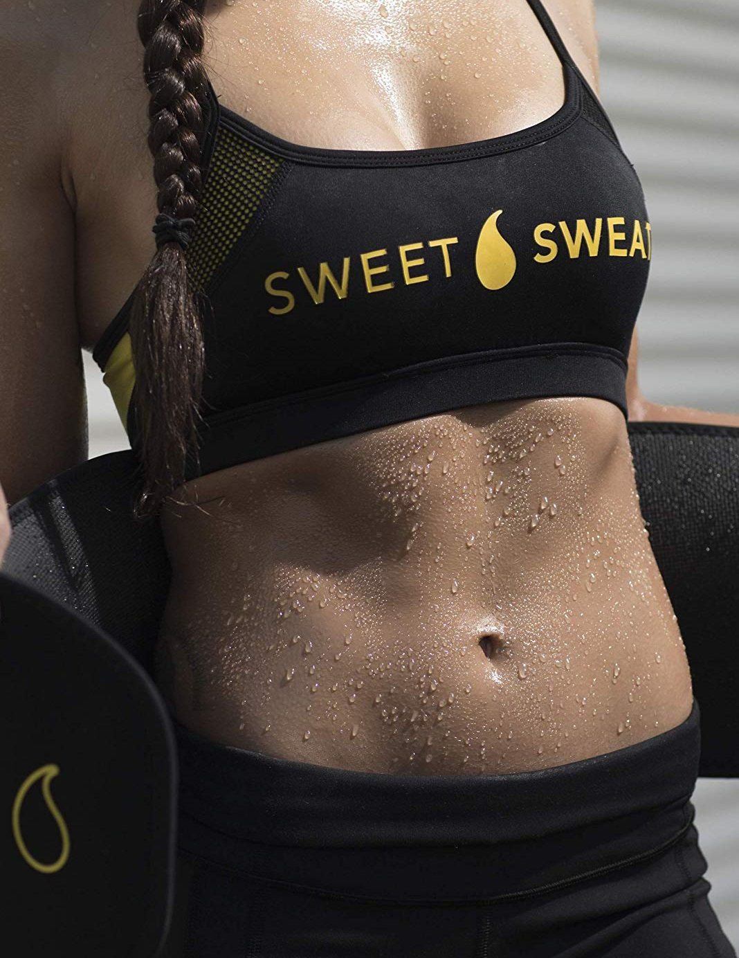 Sports Research Sweet Sweat Premium Waist Trimmer (Yellow Logo)
