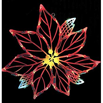 Vickerman Lighted LED Poinsettia Flower