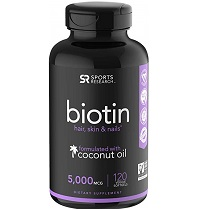 Biotin infused with organic virgin coconut oil