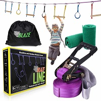 Ninja Warrior Hanging Obstacle Course for Kids