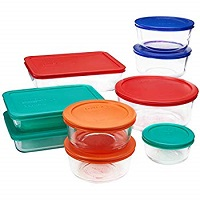 Pyrex Simply Store Glass Rectangular and Round Food Container Set