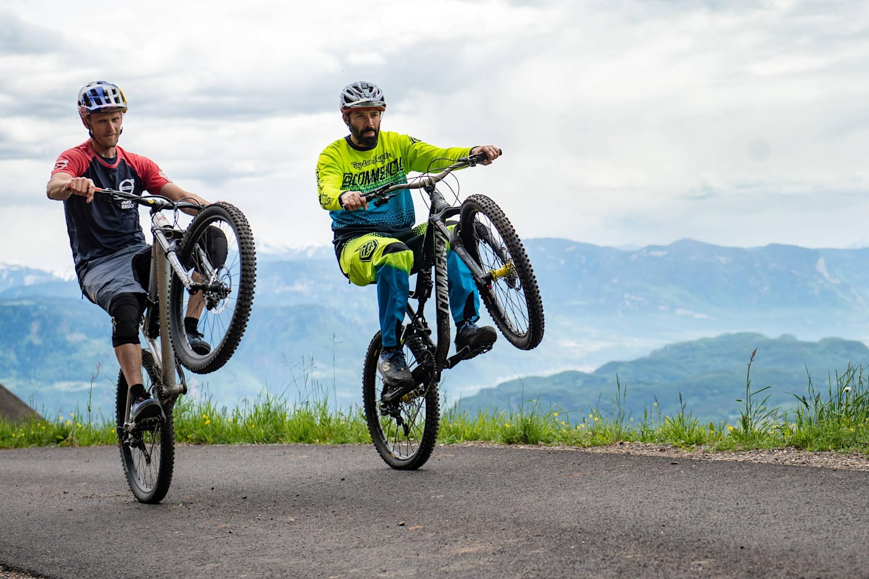Wheelie A Mountain Bike