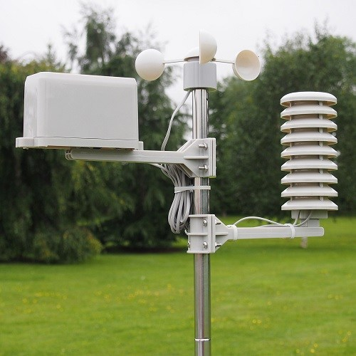 Weather station in the field