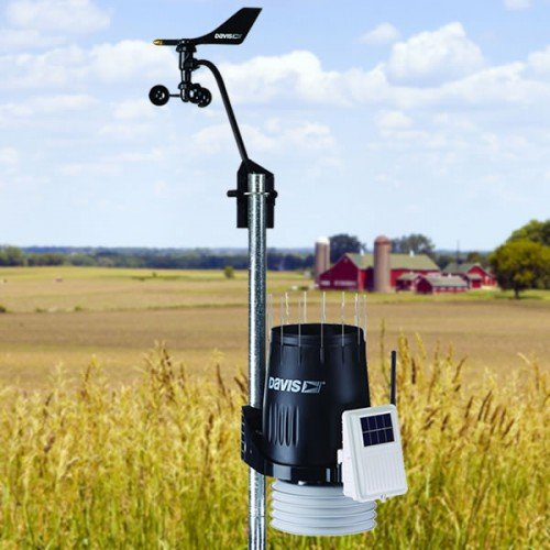 Weather station on farm